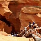 Zejście do Dolnego Kanionu Antylopy